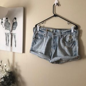 Vintage Hollister distressed cutoff jean shorts